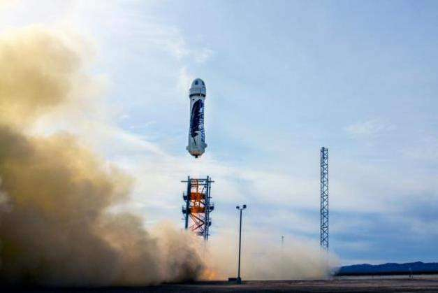 посадка Blue Origin New Shepard